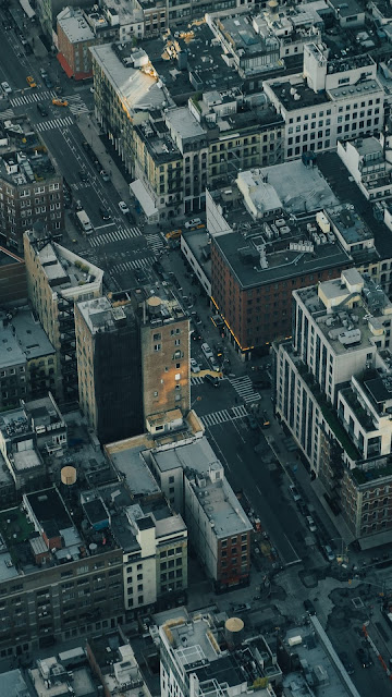 City, Metropolis, Aerial view, Buildings, Street, Architecture