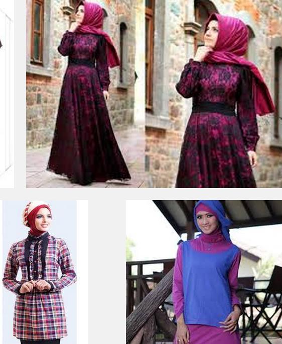 Gambar Baju Batik Kerja Kombinasi Polos: Model Baju Batik Kerja Wanita Lengan Panjang Kombinasi