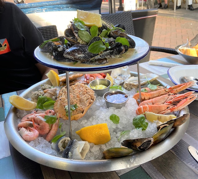 Seafood platter in Hastings