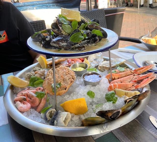 Seafood platter in Hastings