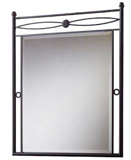 Espejo recibidor o dormitorio forja