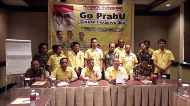 VIDEO: Sejumlah Caleg Golkar Nyatakan Dukungan kepada Prabowo-Sandi