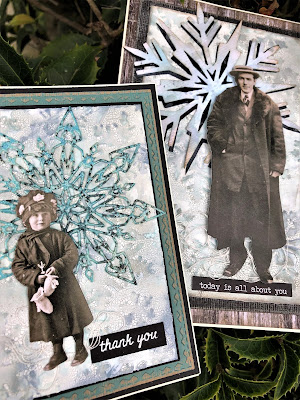 Sara Emily Barker Wintry Mixed Media Cards https://sarascloset1.blogspot.com/2019/01/wintry-mixed-media-cards-for-frilly-and.html #timholtz #sizzixalterations #iceflake #flurry1 1