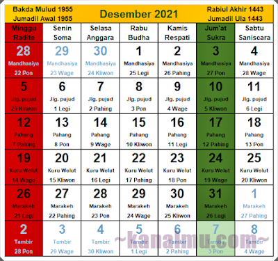 kalender jawa bulan desember 2021 - kanalmu