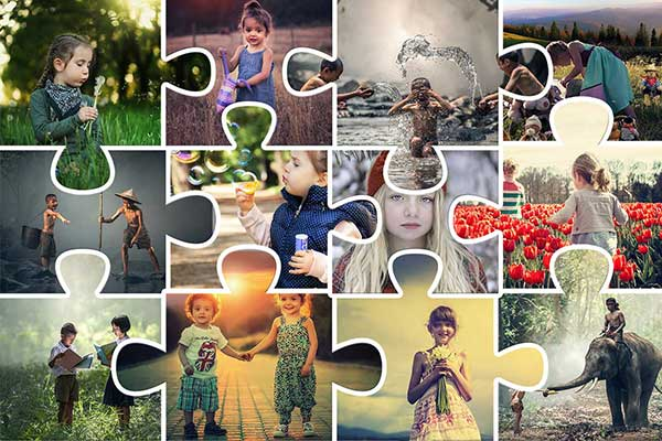 Create A Jigsaws Puzzle Collage In
