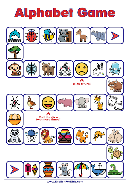 Alphabet game for preschoolers and elementary school kids