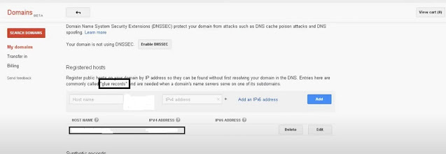 How to find ipv4 of Google name server