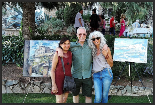 ART AL JARDÍ-EXPOSICIÓ-PINTURA-ARTISTA-PINTOR-ERNEST DESCALS-VISITES-AMIGUES-TAI-TXI-PAQUITA-ALORS-FOTOS-EXPOSICIONS