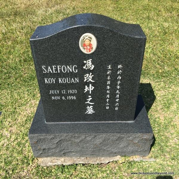 Asian gravesite at Sunset View Cemetery in El Cerrito, California