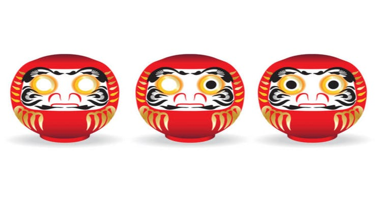 9.Kashira (Heads) Are Daruma Dolls