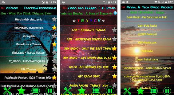 RAVE Music Radio Screenshots