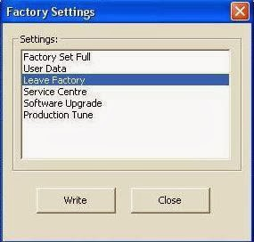 Factory Settings.