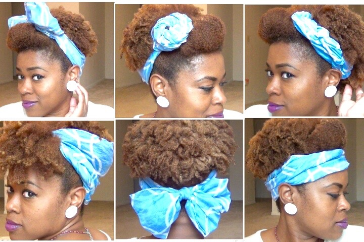 Cute Scarf Updos For Natural Hair