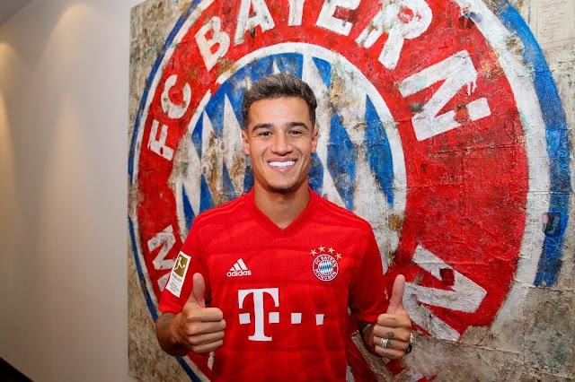 "German Giant ""Bayern Munich"" sign Coutinho on loan"