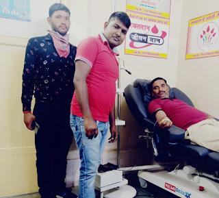 जरूरत मंद रक्त दान मदद के लिऐ दौड़ पड़े: भानू यादव