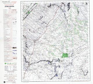 Zmamza Morocco 50000 (50k) Topographic map free download