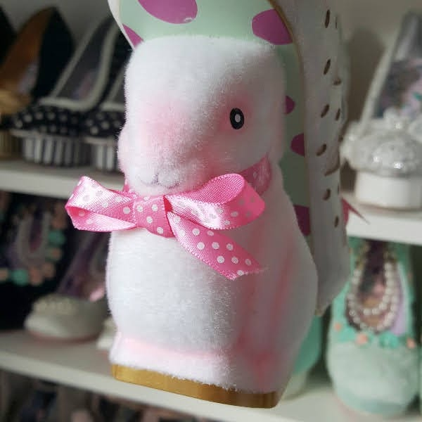 Irregular Choice fuzzy bunny shaped heel on shoe