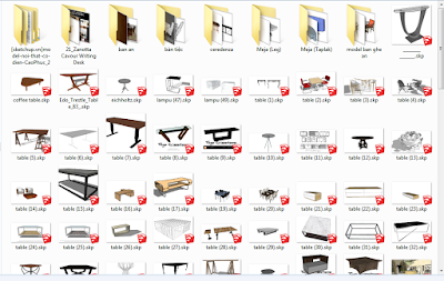 3d model meja,3d model meja,component 3d sketchup