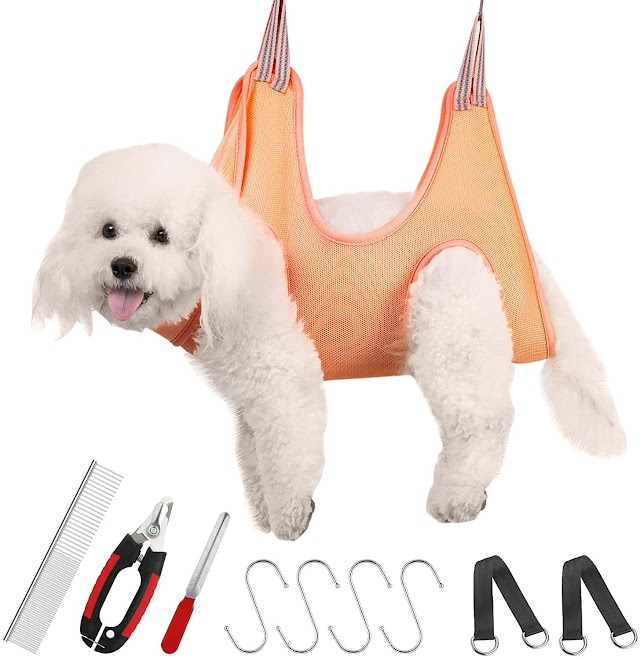 Grooming hammock harness for small dogs