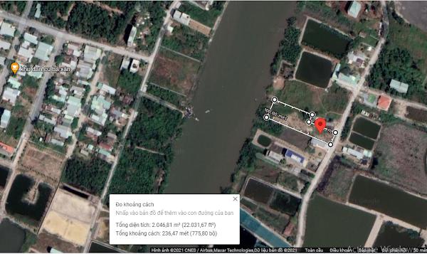 Bán 1800m2 đất, có 900m2 đất thổ cư mặt tiền sông, oto tới đất, xã Tam Thôn Hiệp