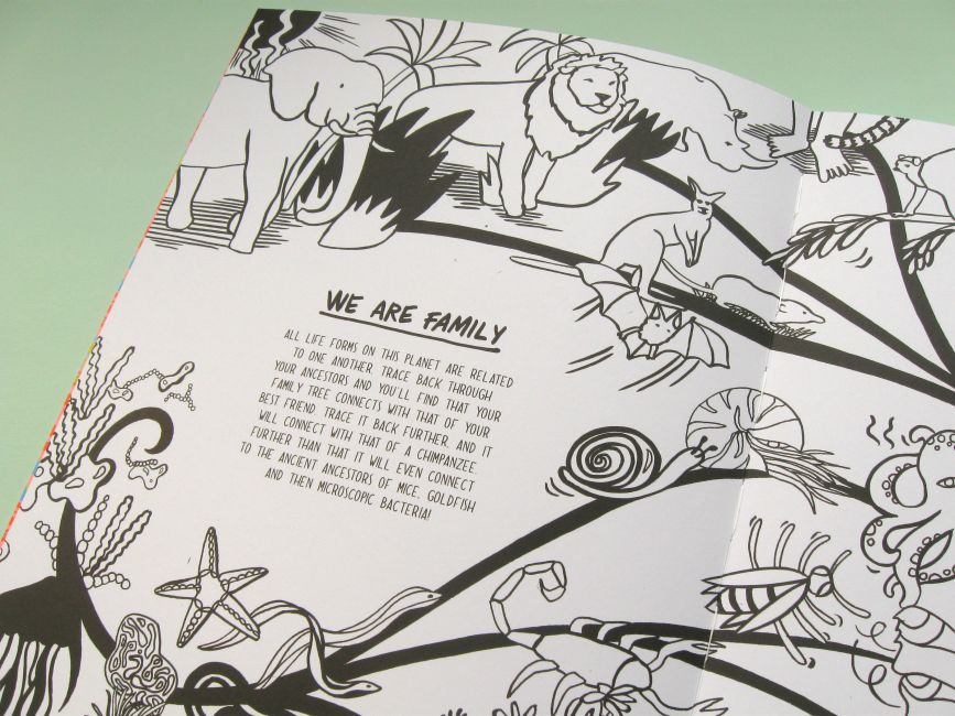 It also includes lots of interactive elements there are flaps to lift up sea creatures to draw