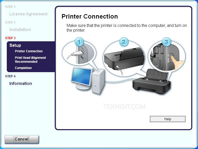 Cara instal printer Canon iP2770
