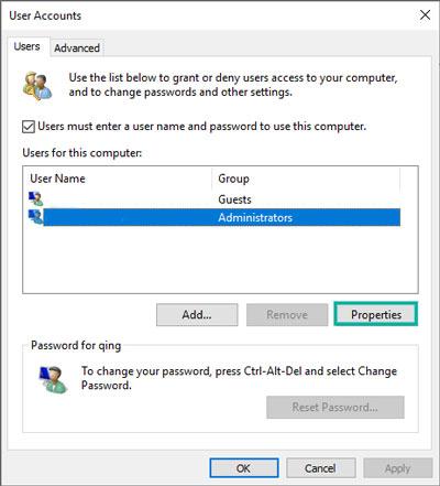 تغيير اسم حساب المستخدم windows 10