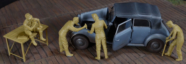 "Cheap Auto Repair >> The Modelling News: MasterBox MB 3582 ""Auto-Repair Crew"" 1/35th scale Review"