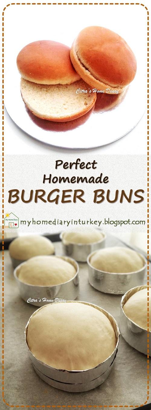 HOMEMADE BURGER BUNS   Çitra's Home Diary. #homemadebun #burgerbunrecipe #basicdough #burger #rotiburger #burgerekmek #rotimanis