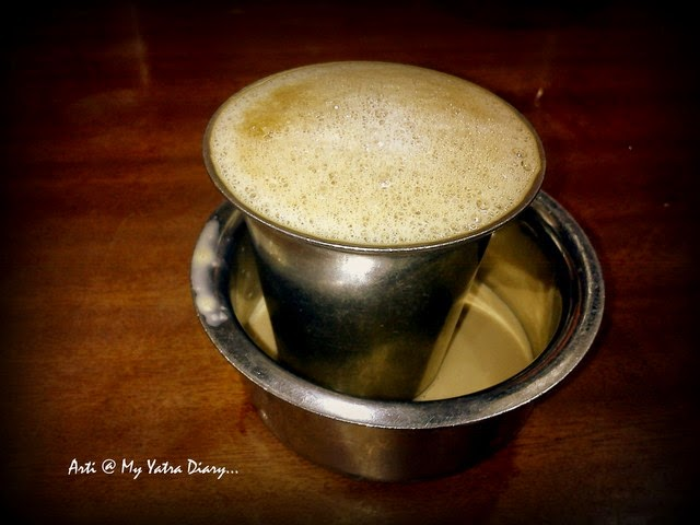 Traditional South Indian Filter Coffee, Hotel Sarvanna Bhavan, Chennai Central Railway Station, Tamil Nadu
