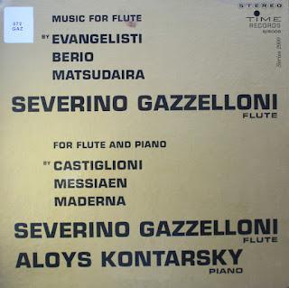 Severino Gazzelloni, Aloys Kontarsky, Music for Flute and Piano