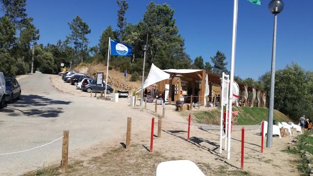 bandeira Azul na Praia de Fontes