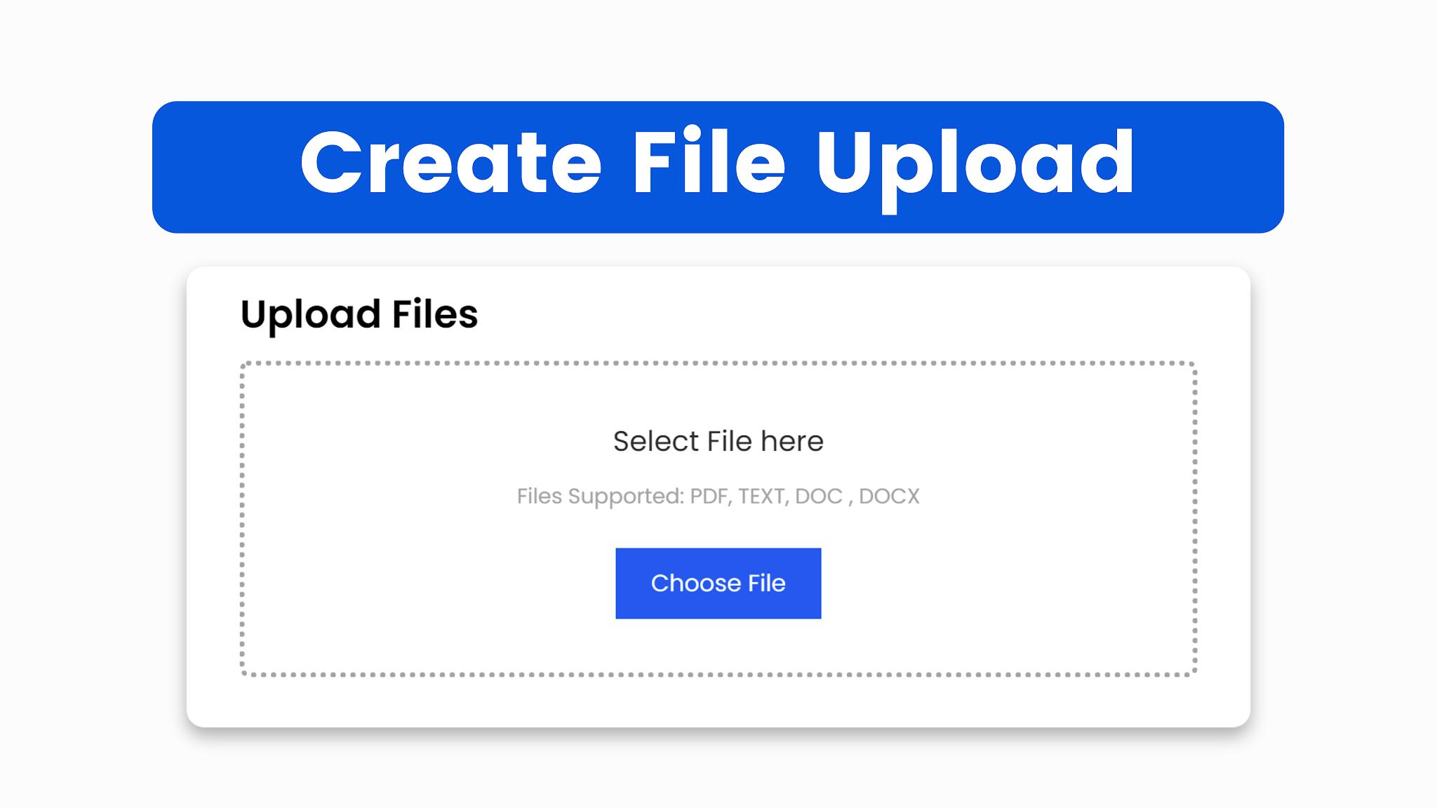 Amazing File Upload Using HTML CSS & JS