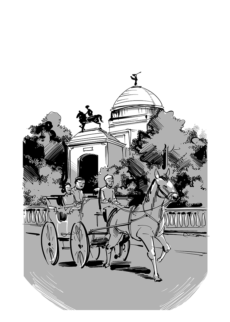 story book illustration victoria memorial hall
