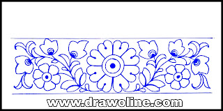 How to draw and essay hand embroidery designs/hand embroidery border for design fashion designer/ free download hand embroidery designs