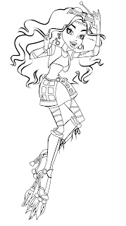 monster high coloring pages jinafire long gloom | Monster High Jinafire Long Coloring Pages - Free Printable ...