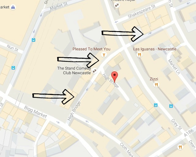 My Favourite Street in Newcastle | High Bridge Street - map