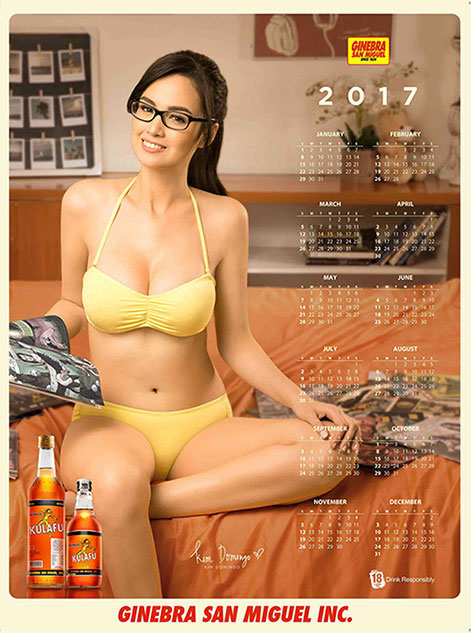 Kim Domingo yellow bra and panties