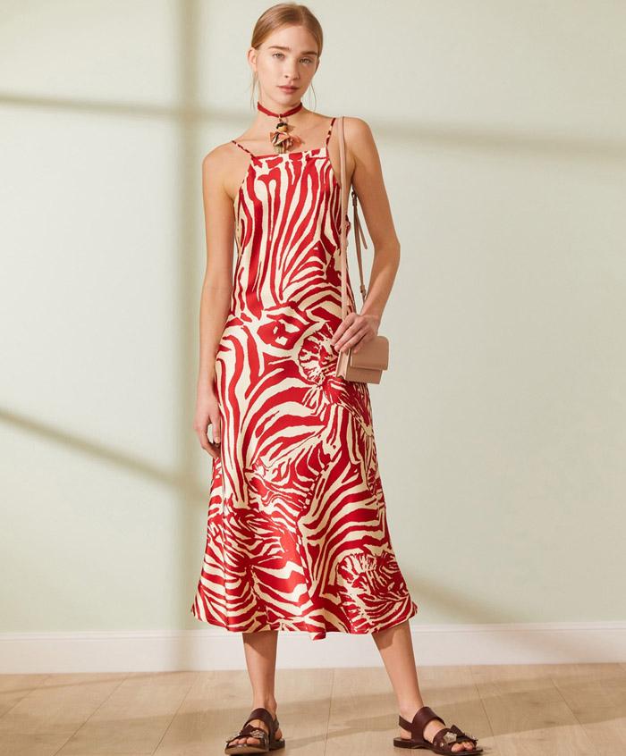 vestidos de verano 2021 largos estampado cebra