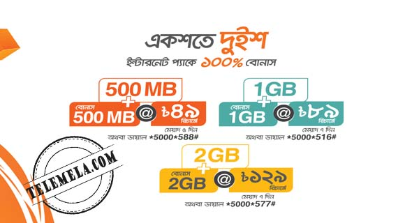 Banglalink 100% Internet Bonus Offer