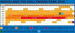 Calendario Movieland 2016
