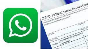 Get to Download your Vaccination Certificate using Whatsapp