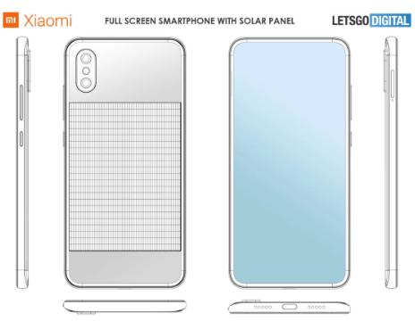 شركة شياومي تسجل براءة إختراع مدهشة تتعلق بهاتف دكي يشحن بالطاقة الشمسية