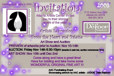 Defoor art exhibition 2003 arist designer Jillian Crider Atlanta Artists Center fund raiser