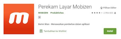 perekam layar mobizen app