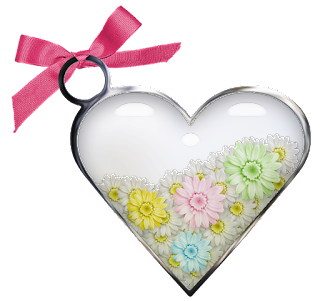 Free Printable Hearts with Flowers Clipart.