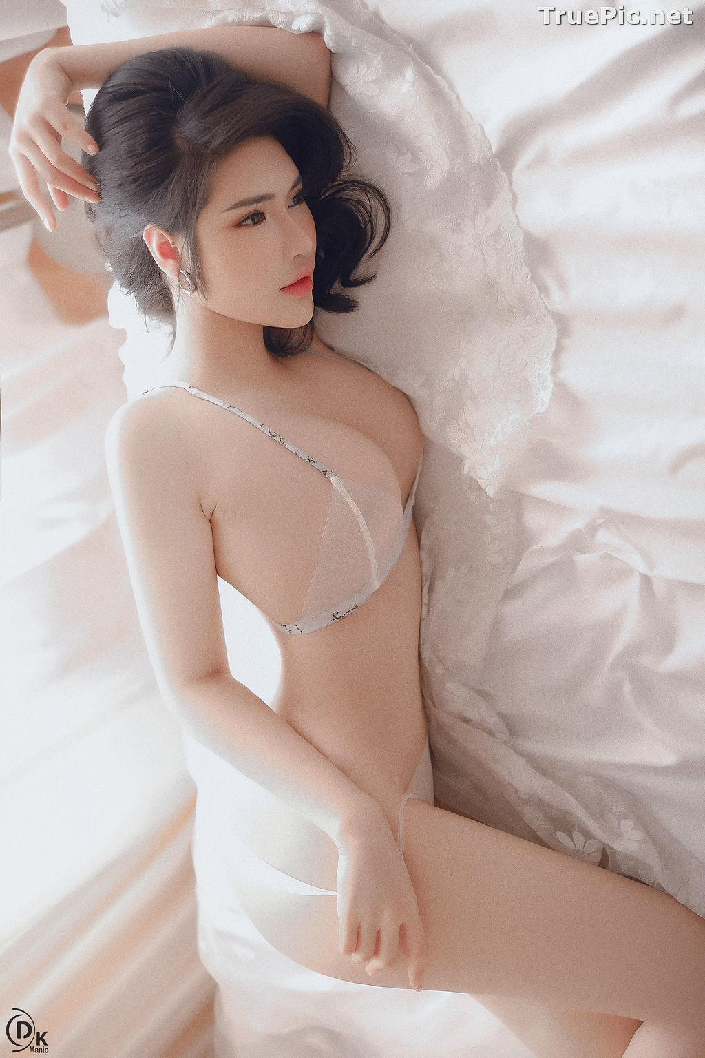 Image Vietnamese Model - Beautiful Girl in Sexy Transparent White Lingerie - TruePic.net - Picture-2