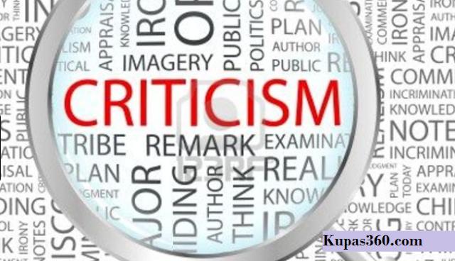 Kritik dalam Bahasa Inggris Criticism