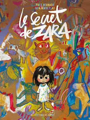 """couverture de """"LE SECRET DE ZARA"""" de Fred Bernard et Benjamin Flao chez Delcourt"""