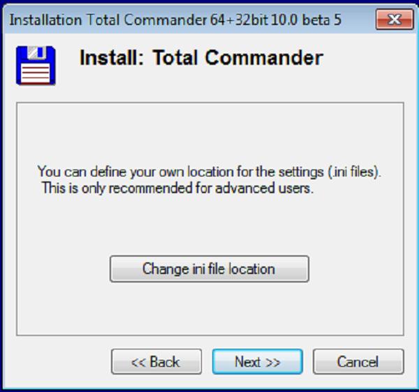 Hướng dẫn cài đặt phần mềm Total Commander 10.0 d
